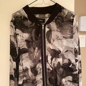 Oversized zipped blouse